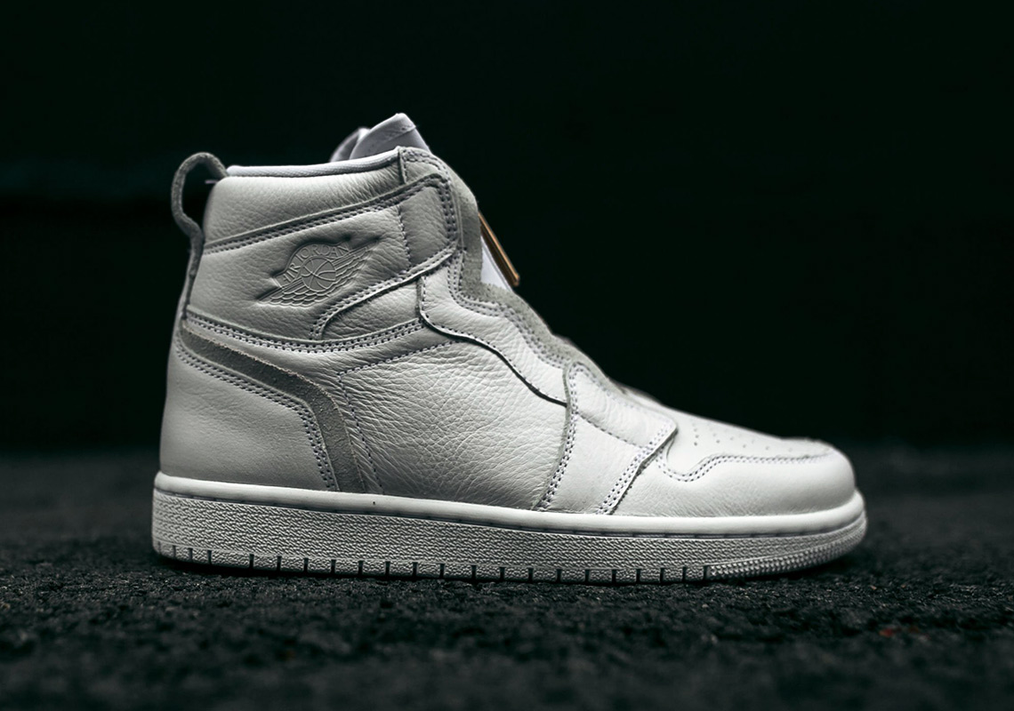 """big sale 35d3c 8e819 ... the Air Jordan 1 High Zip """"White"""" to hit Jordan brand retailers and Nike  SNKRS on March 8th. The new design will be available only in women s sizing  for ..."""