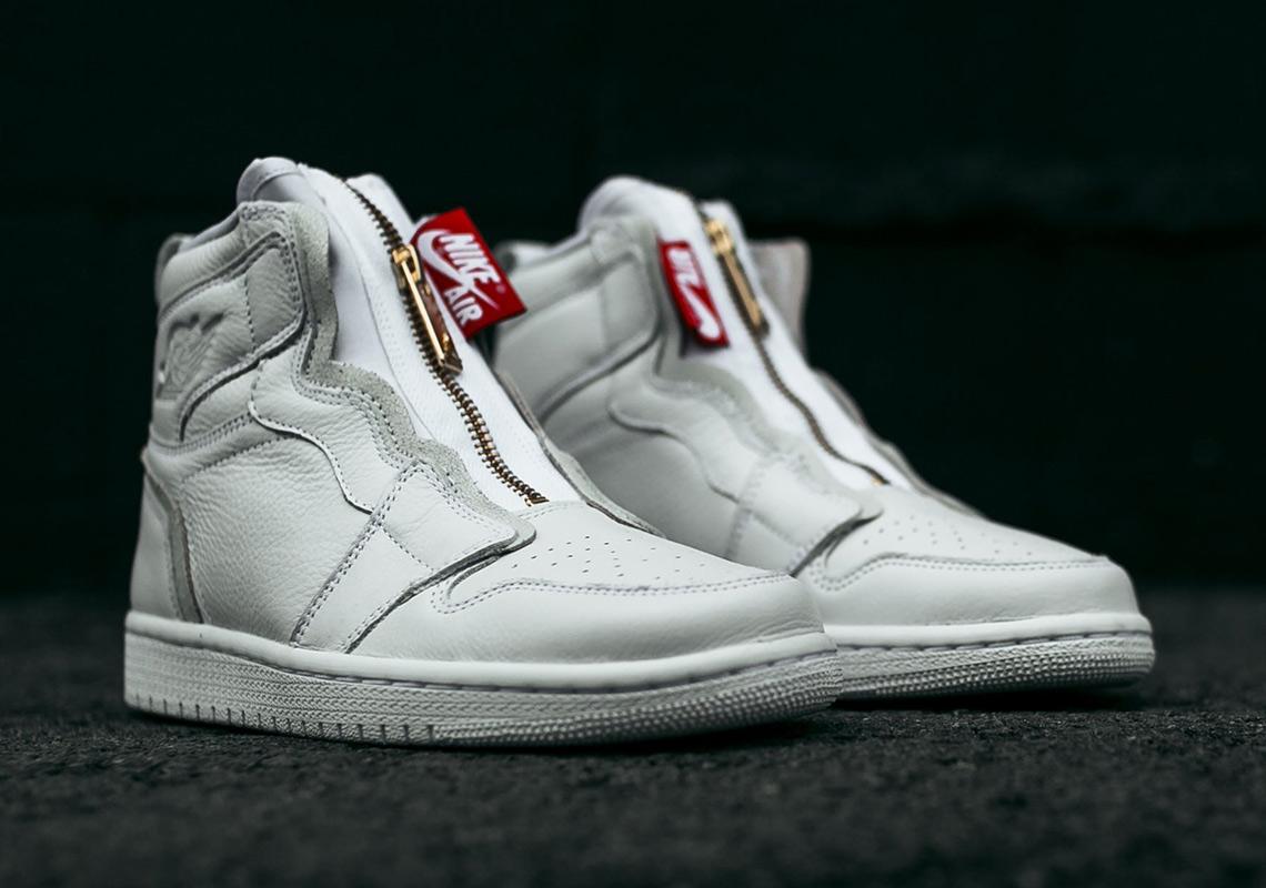 jordan 1 high zip white